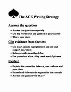 ace writing examples
